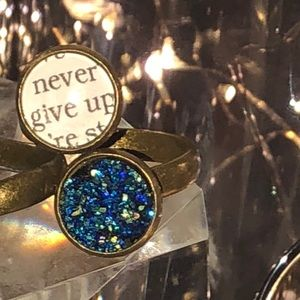 Jewelry - Never Give Up Druzy Double Dot Ring